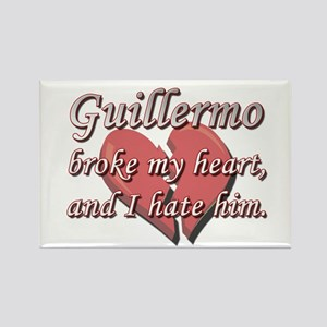 Guillermo broke my heart and I hate him Rectangle