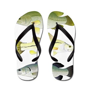 279d5bb5ea8d0d Snook Fish Flip Flops - CafePress