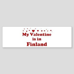 Valentine in Finland Bumper Sticker