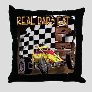 """Real Dads Eat Dirt!"" Throw Pillow"