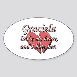 Graciela broke my heart and I hate her Sticker (Ov