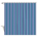 Triangle Stripes In Blue Shower Curtain