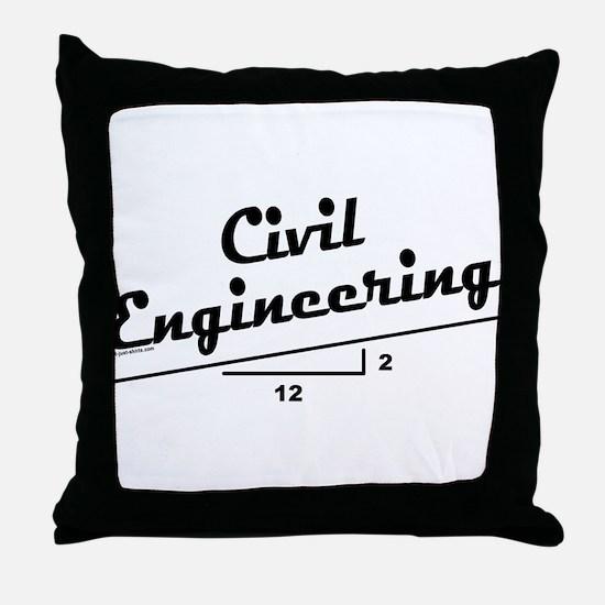 Civil Slope Throw Pillow