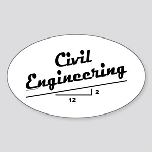 Civil Slope Oval Sticker