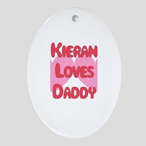 Kieran Loves Daddy Oval Ornament