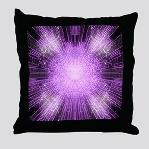 A Psychedelic Magical Rune Spell Throw Pillow