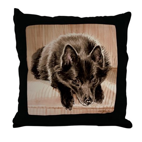 Schipperke Throw Pillow