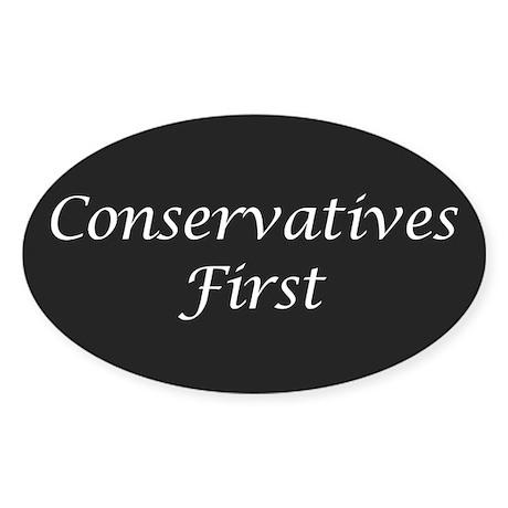 Conservatives First Oval Sticker
