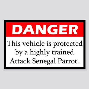 Danger Attack Senegal Rectangle Sticker
