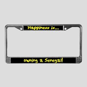 HI Owning Senegal License Plate Frame