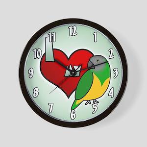 I Love my Senegal Clock (Cartoon)