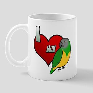 I Love my Senegal Mug (Cartoon)