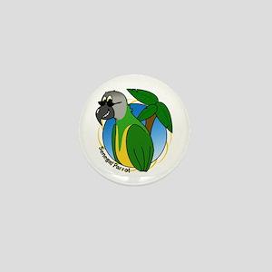 Cartoon Bird Senegal Mini Button