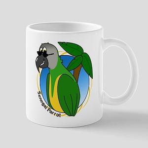 Cartoon Bird Senegal Mug