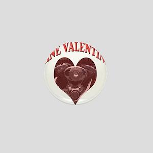Harley is my Valentine Mini Button