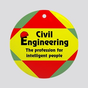 Smart Civil Engineer Ornament (Round)