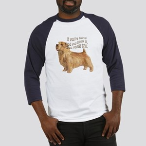 happy norfolk terrier Baseball Jersey