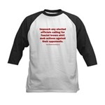 Mob aggression. Kids Baseball Tee