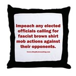Mob aggression. Throw Pillow
