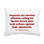 Mob aggression. Rectangular Canvas Pillow