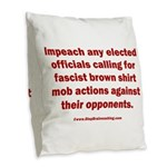 Mob aggression. Burlap Throw Pillow