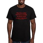Rhyming Judge Brett Men's Fitted T-Shirt (dark)