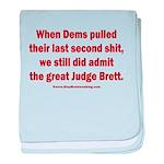 Rhyming Judge Brett baby blanket