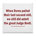 Rhyming Judge Brett Tile Coaster