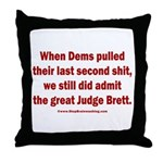 Rhyming Judge Brett Throw Pillow