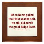 Rhyming Judge Brett Framed Tile
