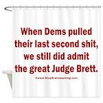 Rhyming Judge Brett Shower Curtain