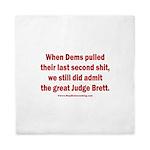 Rhyming Judge Brett Queen Duvet