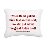Rhyming Judge Brett Rectangular Canvas Pillow