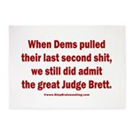 Rhyming Judge Brett 5'x7'Area Rug