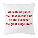 Rhyming Judge Brett Woven Throw Pillow