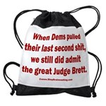Rhyming Judge Brett Drawstring Bag