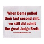 Rhyming Judge Brett Throw Blanket