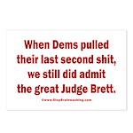 Rhyming Judge Brett Postcards (Package of 8)