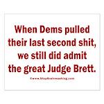 Rhyming Judge Brett Small Poster