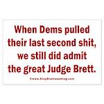 Rhyming Judge Brett Large Poster