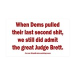 Rhyming Judge Brett 35x21 Wall Decal