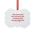 Rhyming Judge Brett Picture Ornament