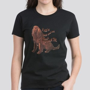 Happy American Water Spaniel Women's Dark T-Shirt