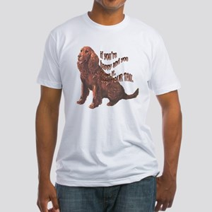 Happy American Water Spaniel Fitted T-Shirt