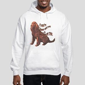 Happy American Water Spaniel Hooded Sweatshirt