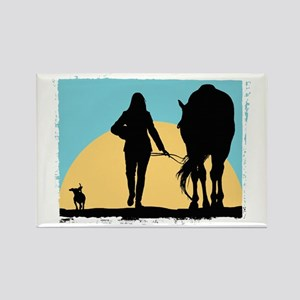 Good Ride Equestrian Rectangle Magnet