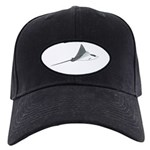 Spotted Eagle Ray Black Cap by Andrew Clark