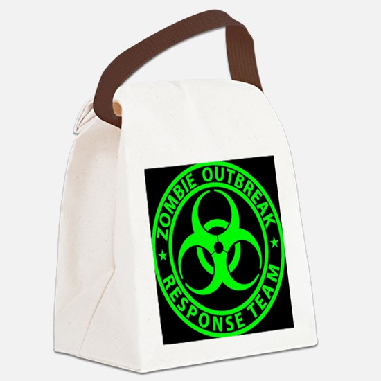 Zombie Outbreak Response Team Sign Canvas Lunch Ba