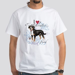 Entlebucher Mountain Dog White T-Shirt