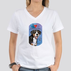 Entlebucher Mountain Dog Women's V-Neck T-Shirt